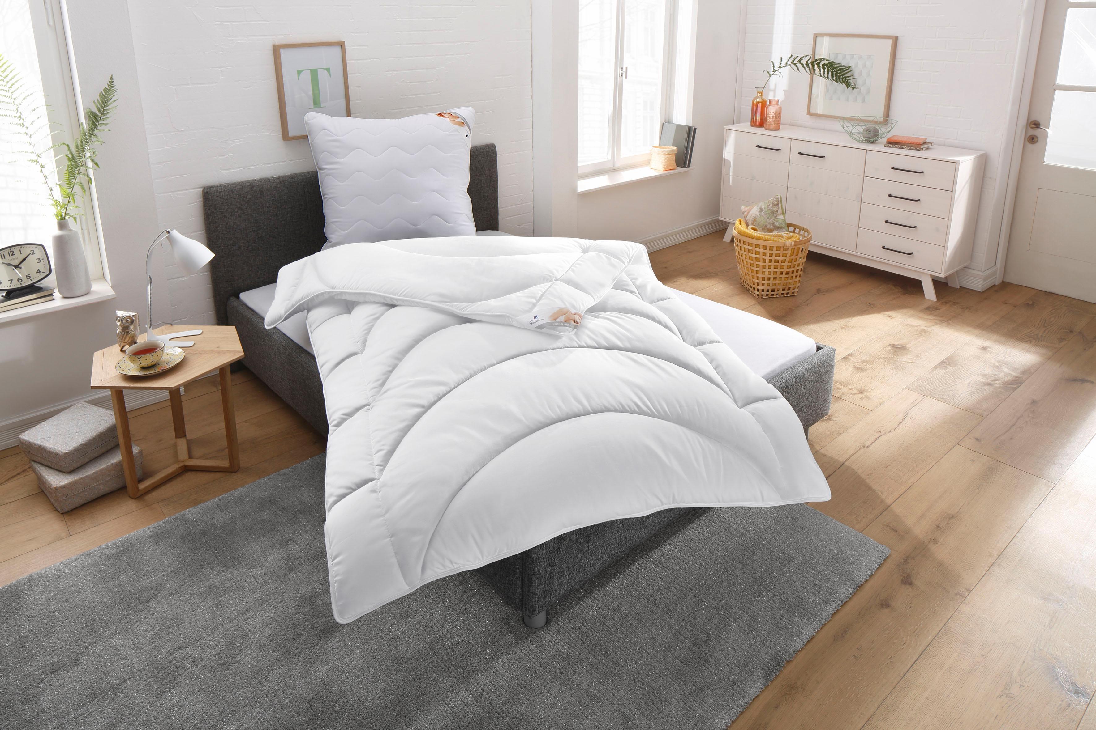 Bettdecken + Kopfkissen Microlux Baumwolle Traumecht warm