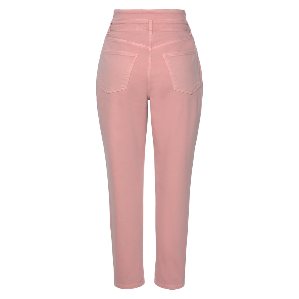 LASCANA Mom-Jeans, in Used-Waschung