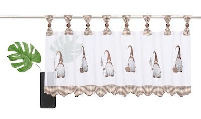 my home Scheibengardine »WICHTEL«, mit Schlaufenaufhängung, für die Küche kaufen
