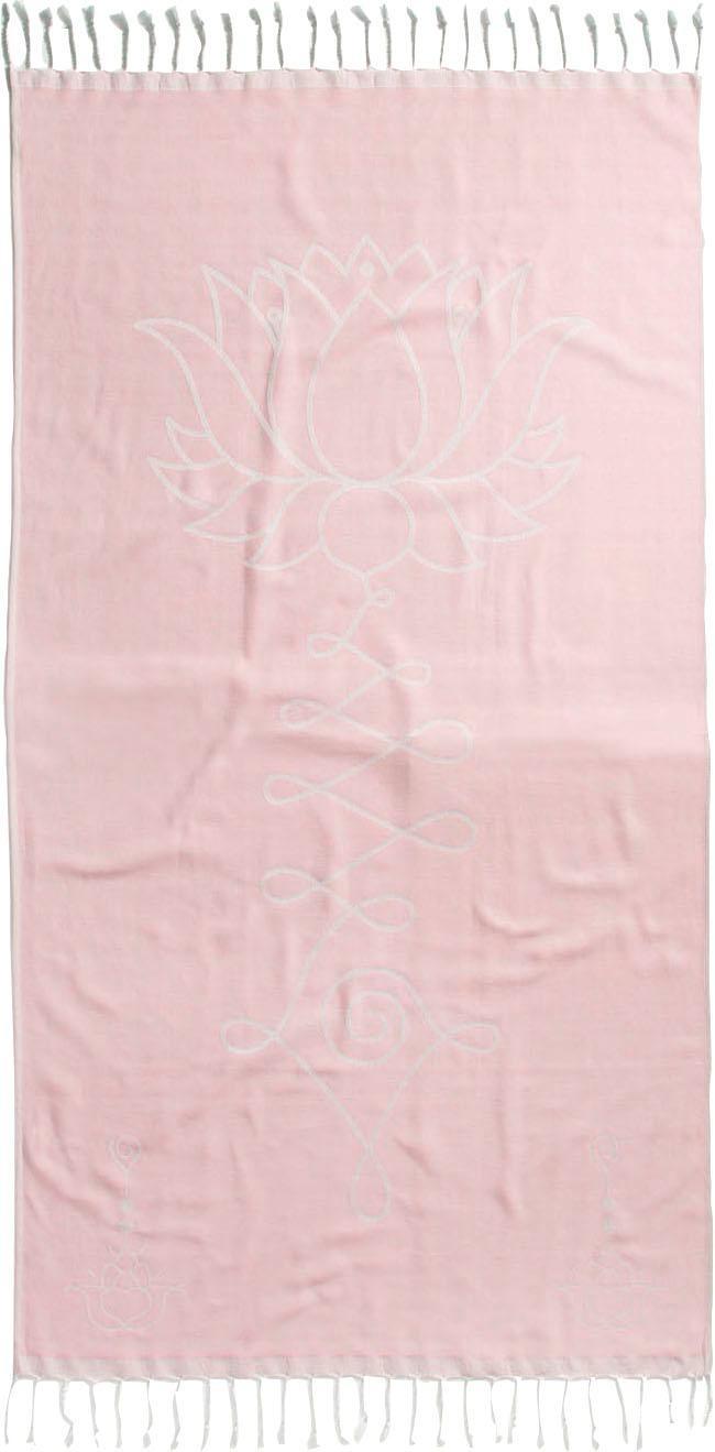 Seahorse Hamamtuch Lotus, (1 St.), mit Lotusblume rosa Handtücher Badetücher