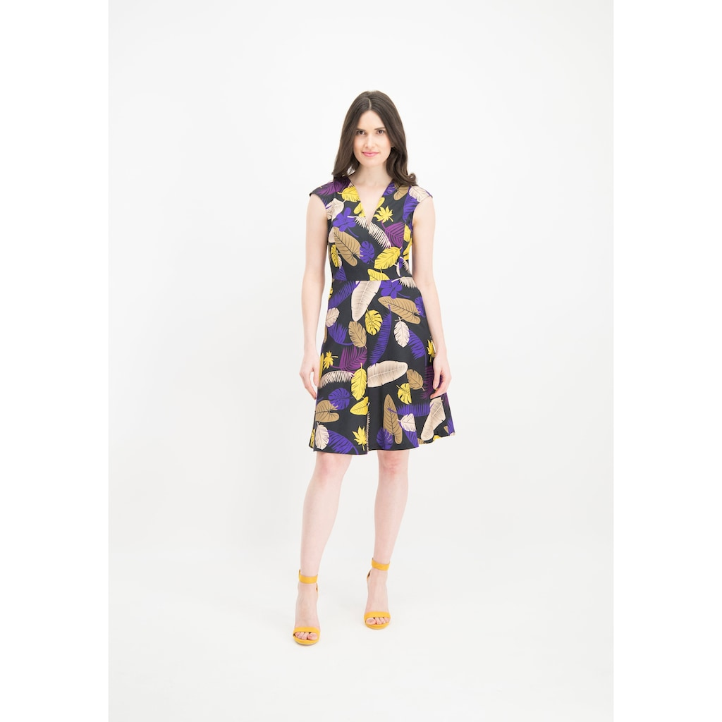 Nicowa Tropisch gemustertes Kleid ONIVEL