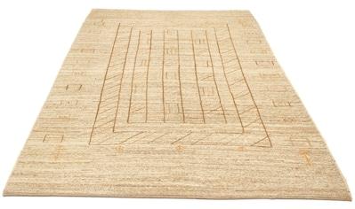 morgenland Wollteppich »Gabbeh Teppich handgeknüpft hellbraun«, rechteckig, 18 mm... kaufen
