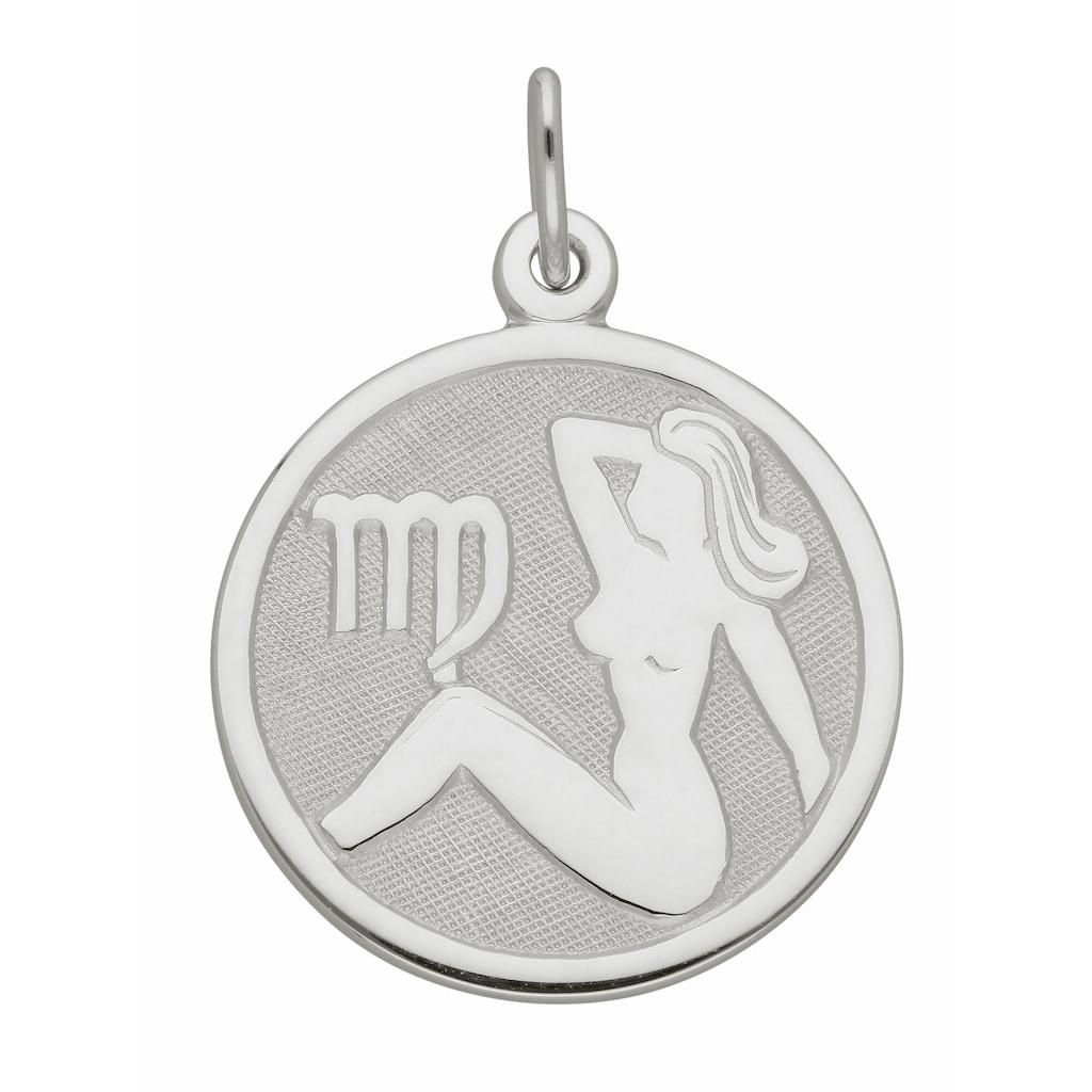Adelia´s Kettenanhänger »925 Silber Sternzeichen Anhänger Jungfrau Ø 15,7 mm«