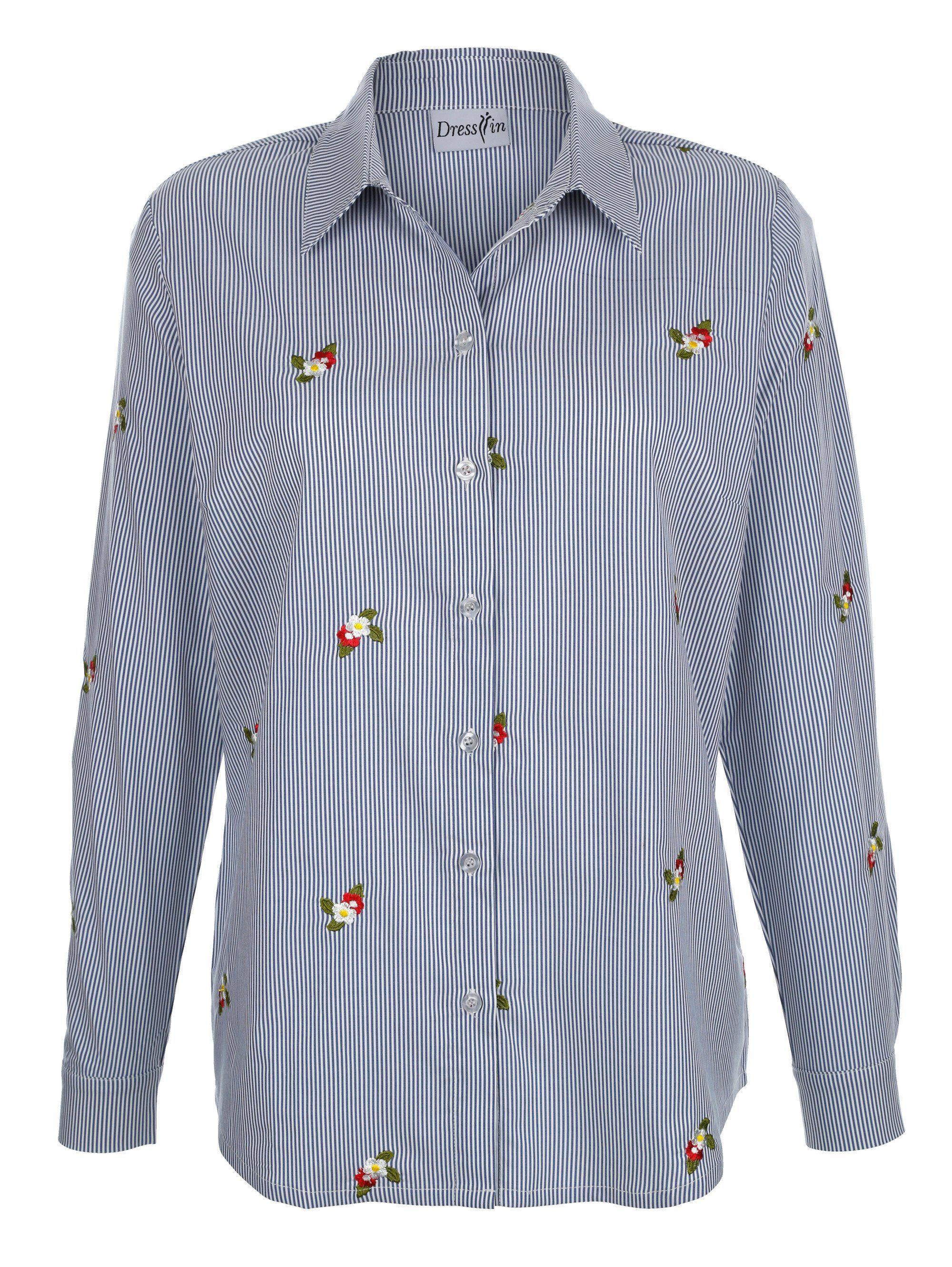 Dress In Bluse mit Blumenstickerei