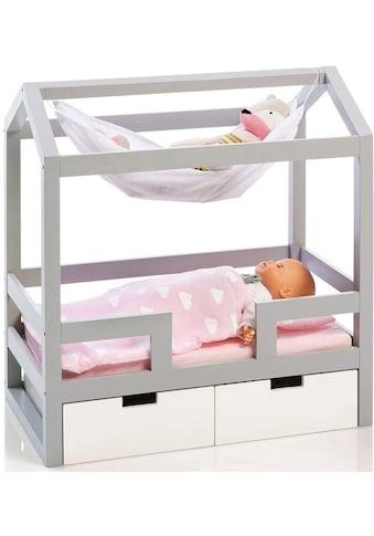 """MUSTERKIND® Puppenbett """"Barlia, grau/weiß"""" kaufen"""