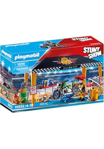 Playmobil® Konstruktions-Spielset »Werkstattzelt (70552), Stuntshow«, (49 St.) kaufen