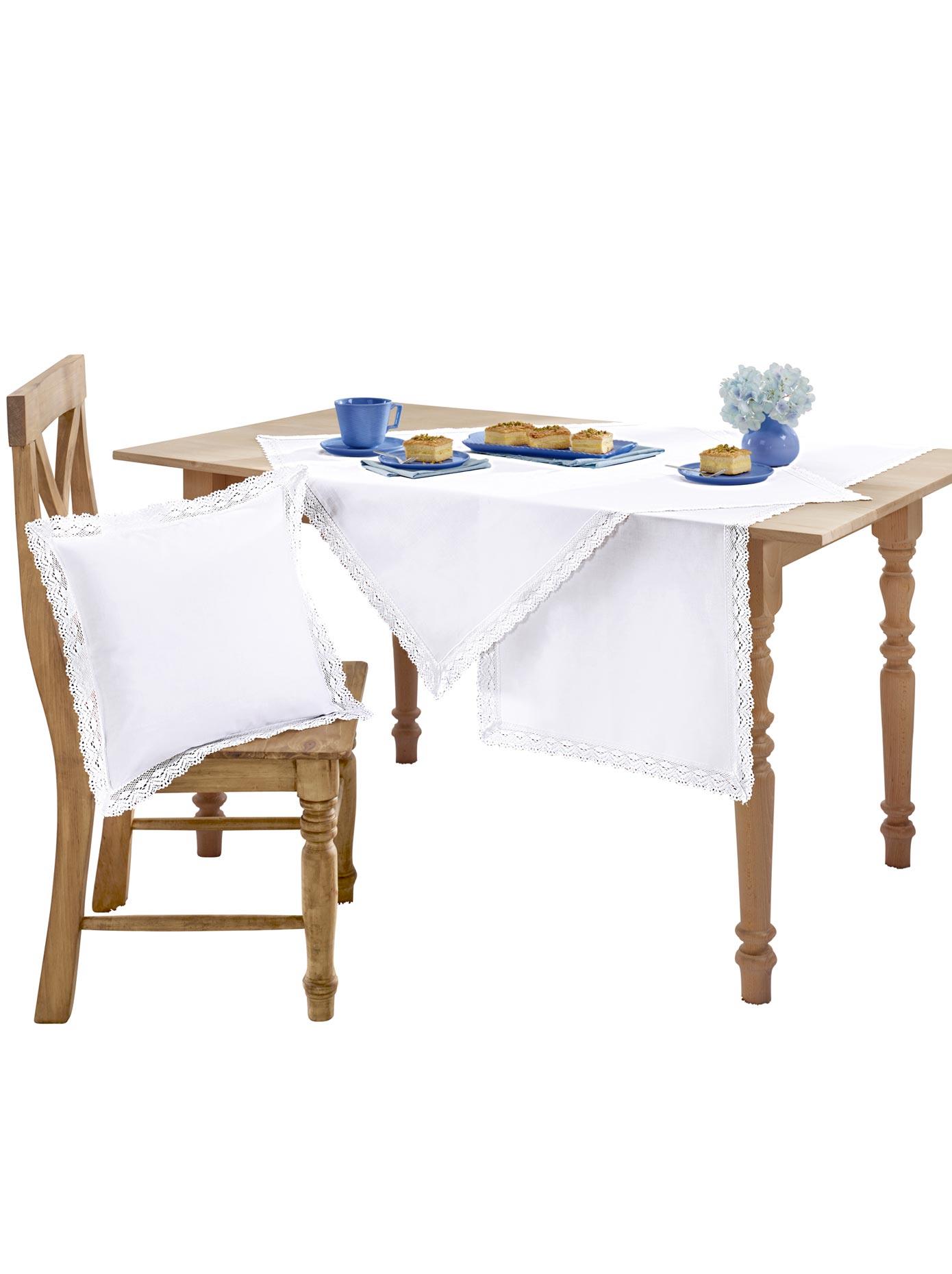 Tischdecke weiß Tischdecken Tischwäsche