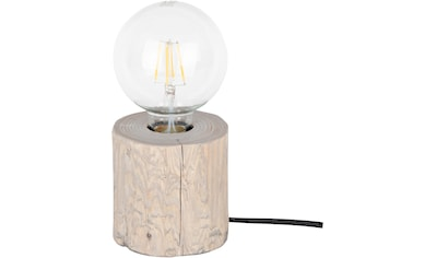 SPOT Light Tischleuchte »TRABO TABLE«, E27, massiveS Kiefernholz Ø 8-12 cm,Holz grau... kaufen