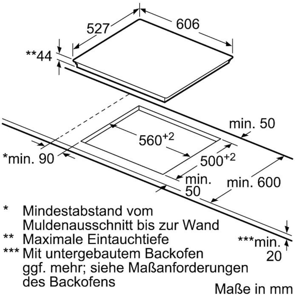 BOSCH Elektro-Kochfeld von SCHOTT CERAN®, PKM675DP1D, mit Powerboost-Funktion