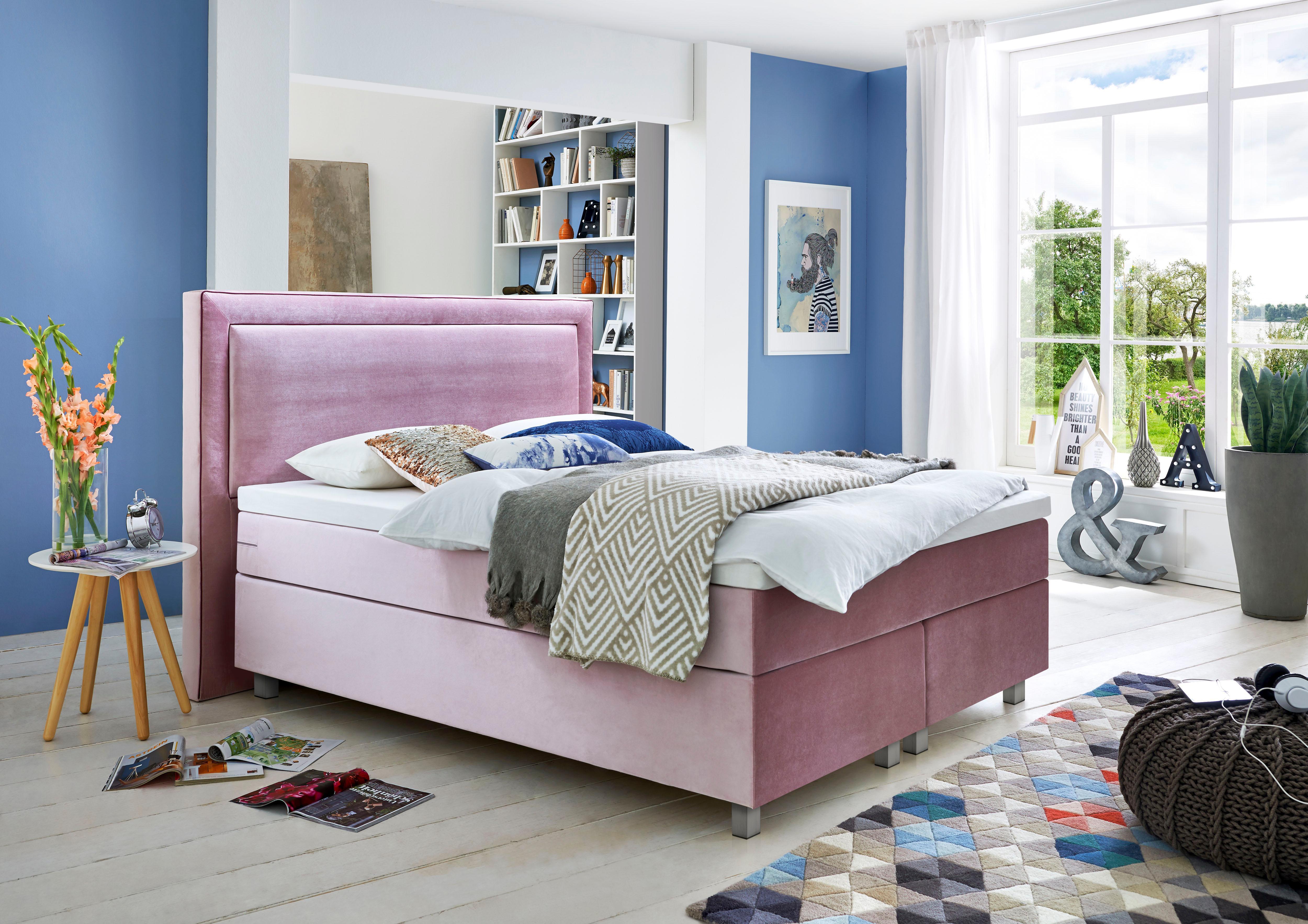 GMK Home & Living Boxspringbett mit Komfortschaum-Topper