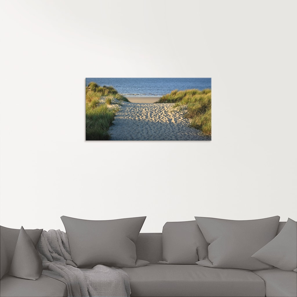 Artland Glasbild »Strandaufgang«, Strand, (1 St.)