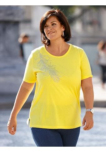 m. collection T-Shirt, mit aufwendigem Strassfedermotiv kaufen