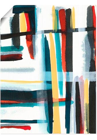 Artland Wandbild »Bücherregal I«, Muster, (1 St.), in vielen Größen & Produktarten - Alubild / Outdoorbild für den Außenbereich, Leinwandbild, Poster, Wandaufkleber / Wandtattoo auch für Badezimmer geeignet kaufen