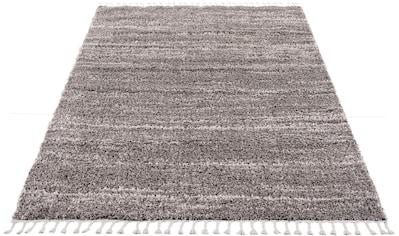 Carpet City Hochflor-Teppich »Pulpy 524«, rechteckig, 30 mm Höhe, mit Fransen, Wohnzimmer kaufen