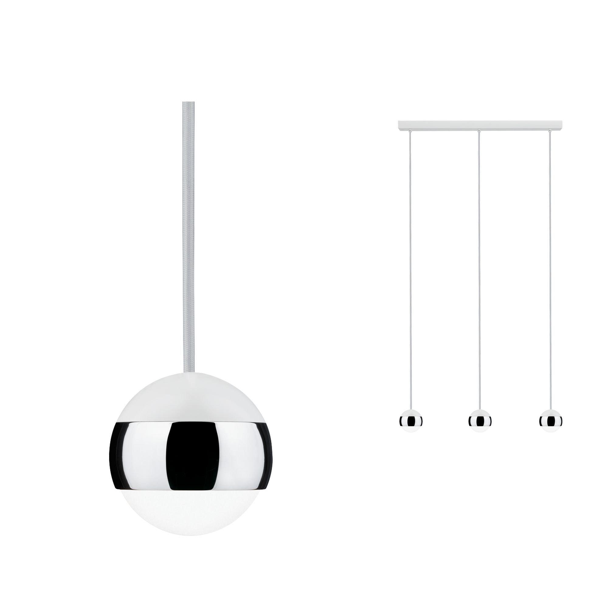 Paulmann LED Pendelleuchte Capsule 3x6W Weiß/Chrom, 1 St., Warmweiß