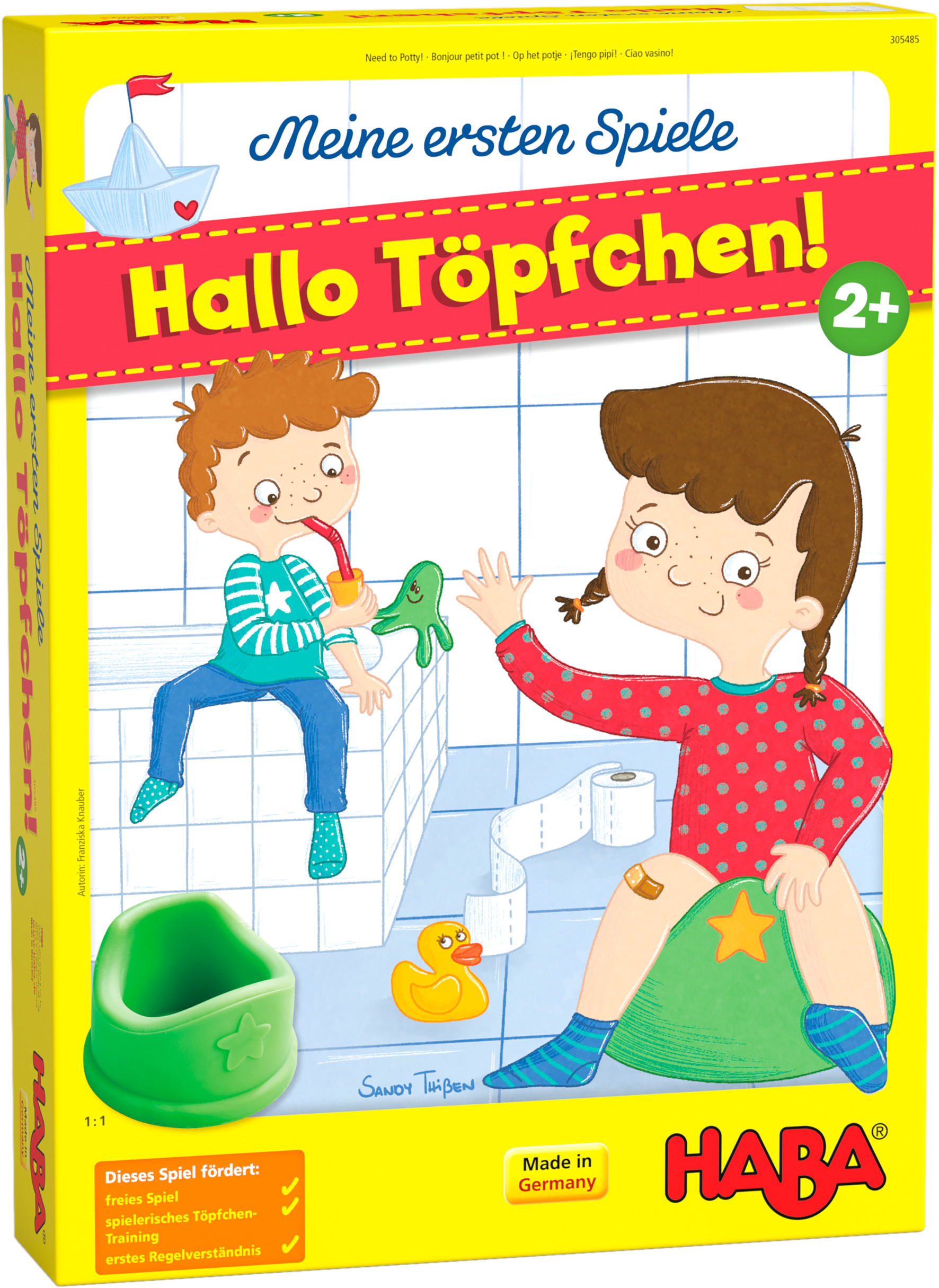 Haba Spiel Meine ersten Spiele - Hallo Töpfchen, Made in Germany bunt Kinder Holzspielzeug