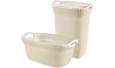 CURVER Wäschebox »KNIT Wäschebox+Wäschekorb«, 2´er - Set kaufen