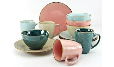 CreaTable Frühstücks-Set »Cosy Morning«, (Set, 12 tlg.), Kreisstruktur kaufen