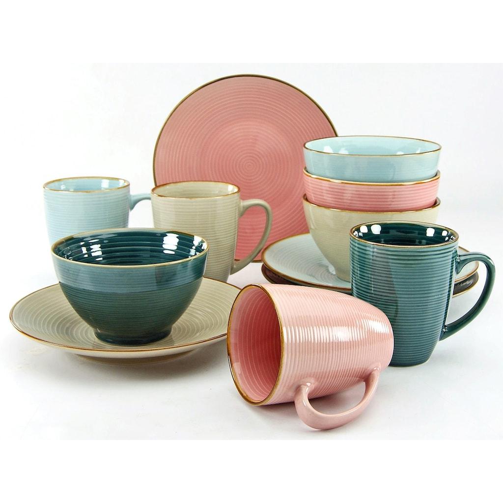 CreaTable Frühstücks-Set »Cosy Morning«, (Set, 12 tlg.), Kreisstruktur