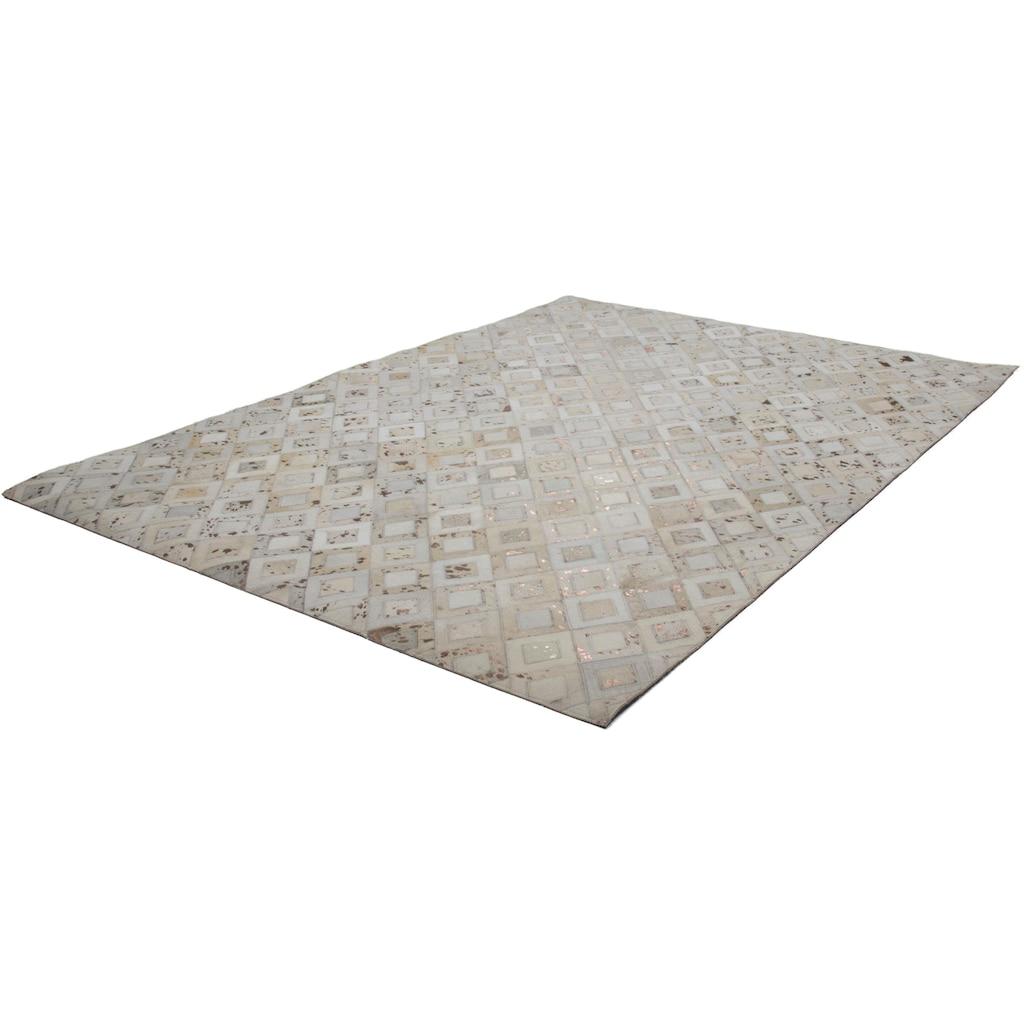 calo-deluxe Fellteppich »Scarllet 110«, rechteckig, 8 mm Höhe, echtes Rinderfell, Wohnzimmer