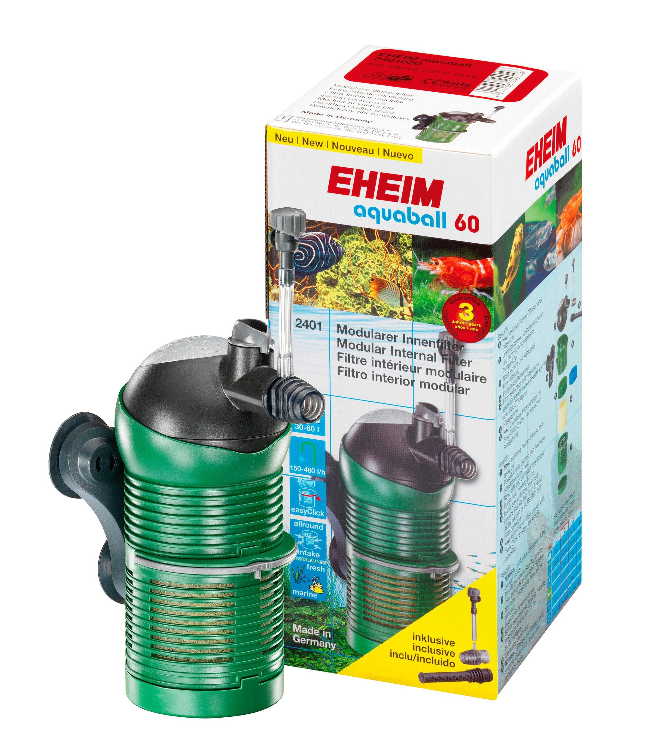 EHEIM Aquariumfilter Innenfilter aquaball grün Aquarium-Filter Aquaristik Tierbedarf
