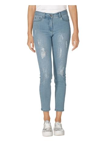 Amy Vermont Jeans mit Strasssteindekoration und Destroyed - Effekten kaufen
