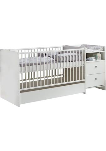 arthur berndt Babybett »Elly«, mit Wickelstation; Umbaubar zum Juniorbett, Spieltisch und Konsole; Made in Germany kaufen