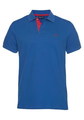 Gant Poloshirt »CONTRAST COLLAR PIQUE RUGGER«, formstabil durch Elasthan kaufen