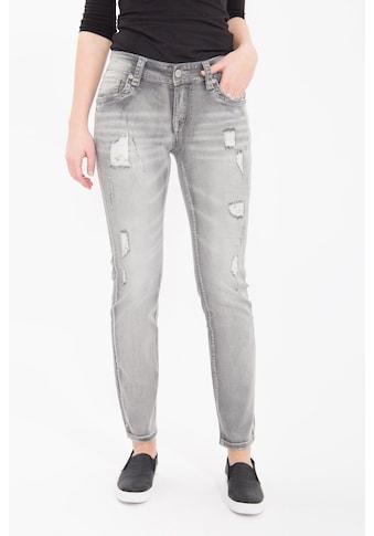 Blue Monkey Slim-fit-Jeans, mit geschmückten Gesäßtaschen kaufen