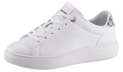 TOMMY HILFIGER Plateausneaker »MONOGRAM LEATHER CUPSOLE«, mit changierendem... kaufen