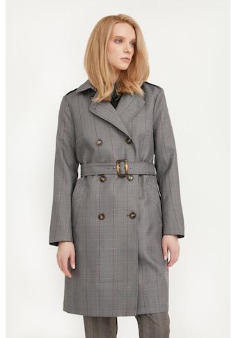 Finn Flare Trenchcoat »-«, mit aktuellem Karo-Muster kaufen