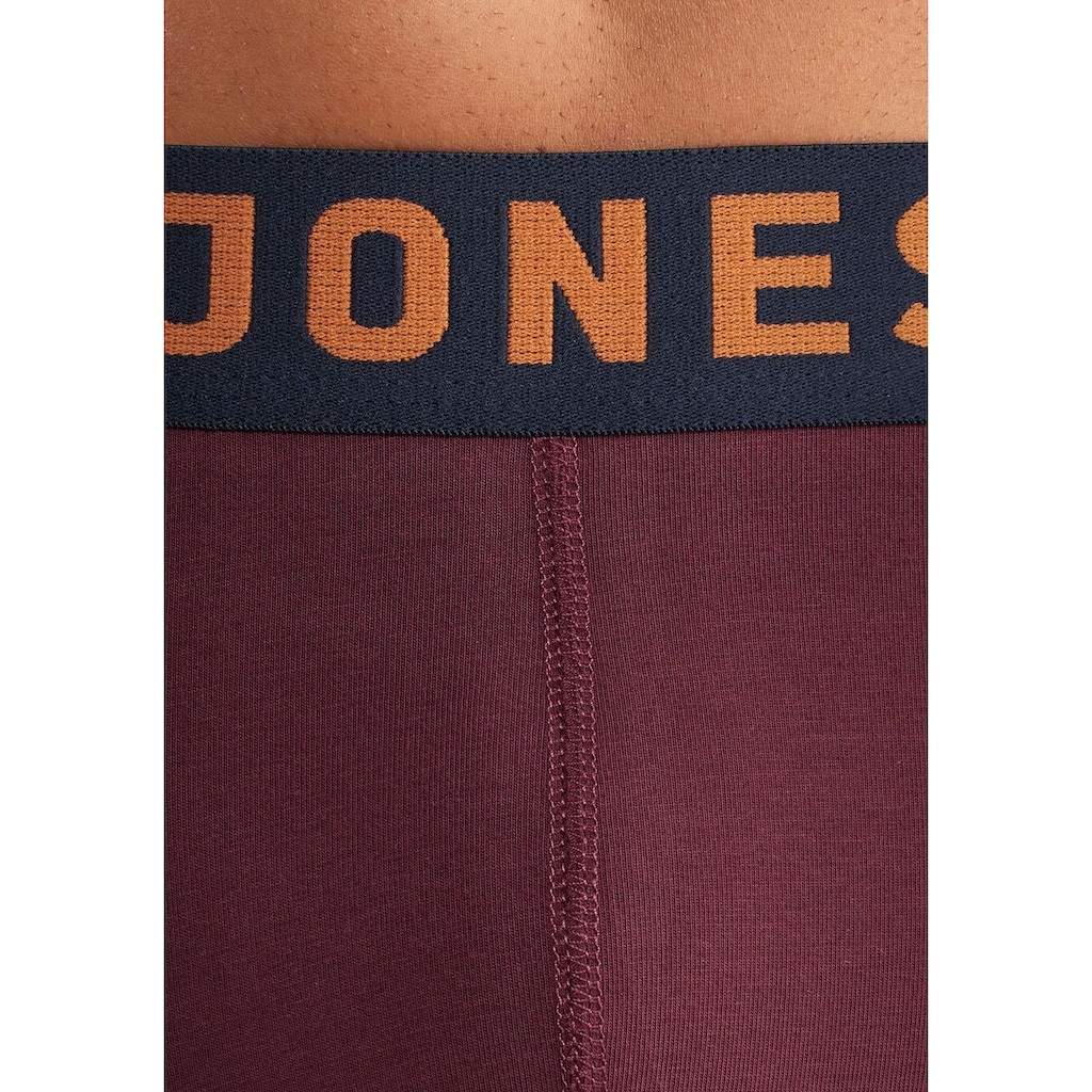 Jack & Jones Boxer »JAC Lichfield Trunks«, (3 St.), mit kontrastfarbigem Bund