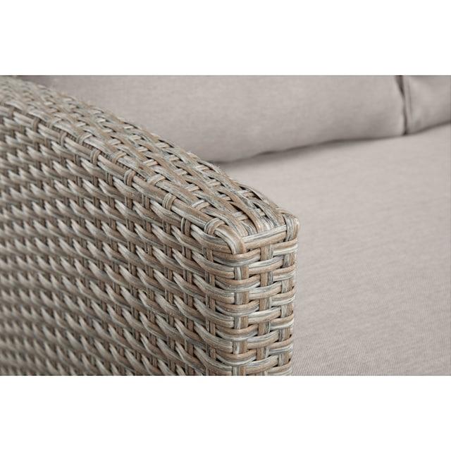KONIFERA Loungeset »Rotterdam«, 20-tlg., 3x Sofa, 2 Hocker, Tisch 120x82 cm, Polyrattan