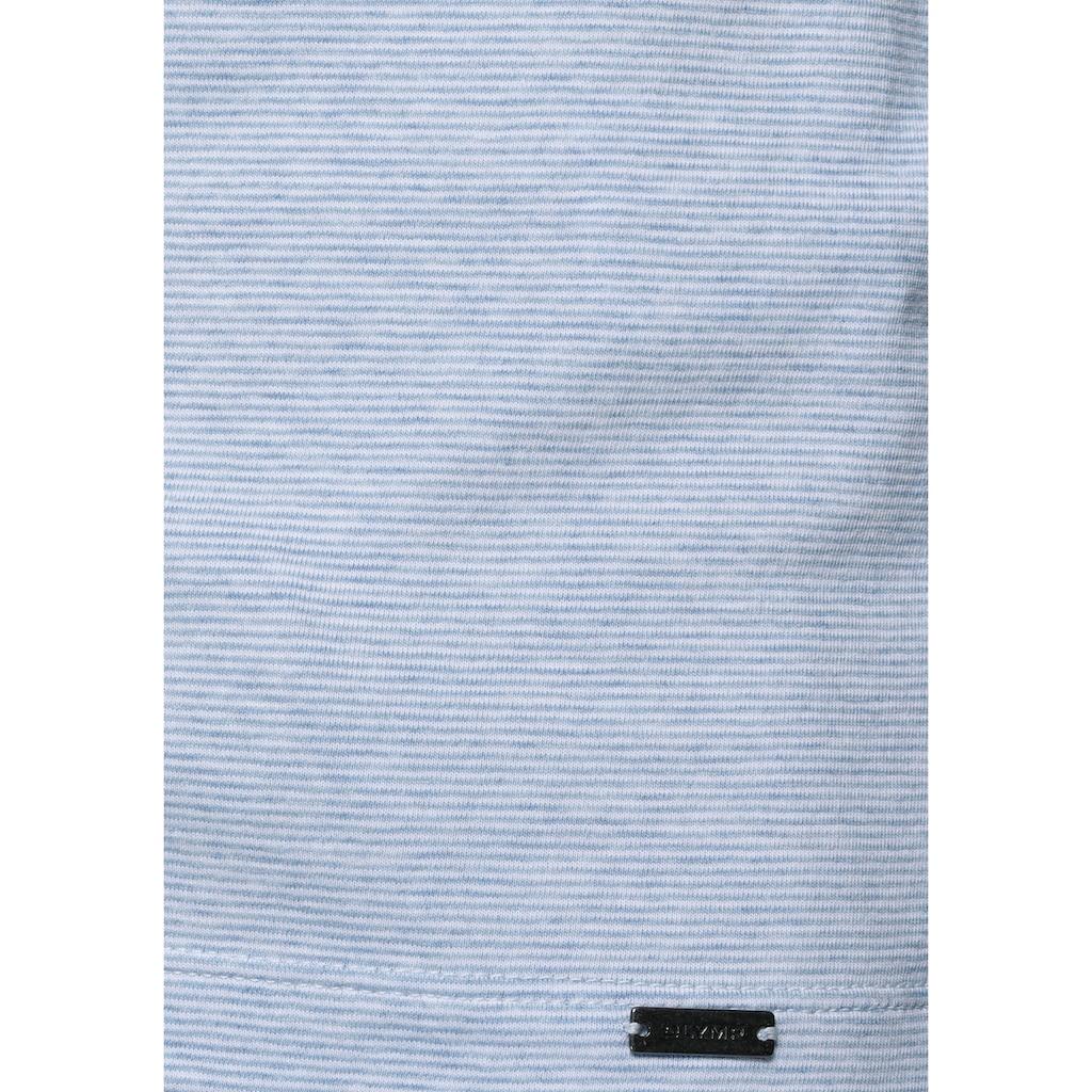 OLYMP T-Shirt »Level Five body fit«, mit feinem Streifenmuster