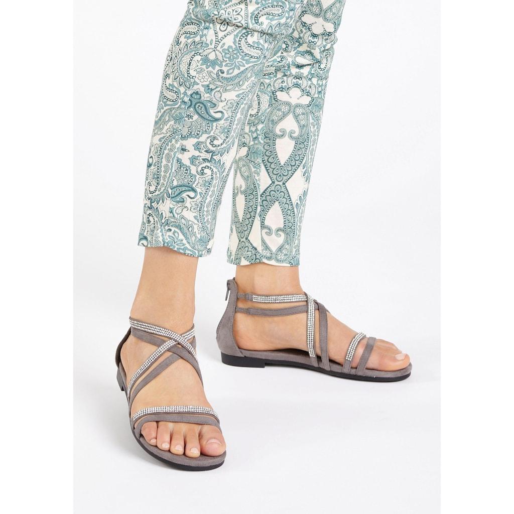 LASCANA Sandale, mit Glitterriemen