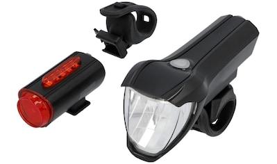 FISCHER Fahrräder Fahrradbeleuchtung, (Set, 3, Front- und Rücklicht), mit zusätzlicher Bodenleuchte kaufen