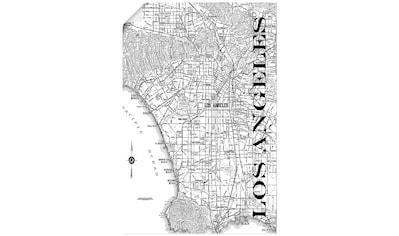 Artland Wandbild »Los Angeles Karte Straßen Karte«, Amerika, (1 St.), in vielen Größen... kaufen
