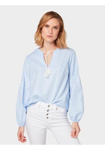 TOM TAILOR Shirtbluse »Bluse mit Stickereien« kaufen