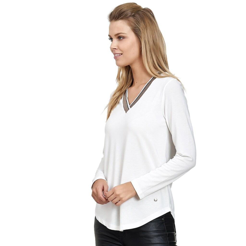 Decay Langarmshirt, mit glitzerndem V-Ausschnitt