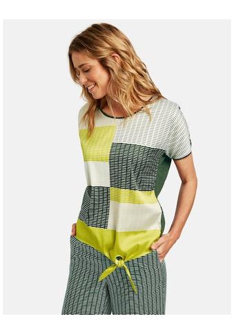GERRY WEBER Kurzarmshirt »Shirt mit grafischem Muster« kaufen