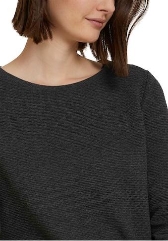TOM TAILOR Denim Sweatshirt, im besonderen Strukturmuster kaufen