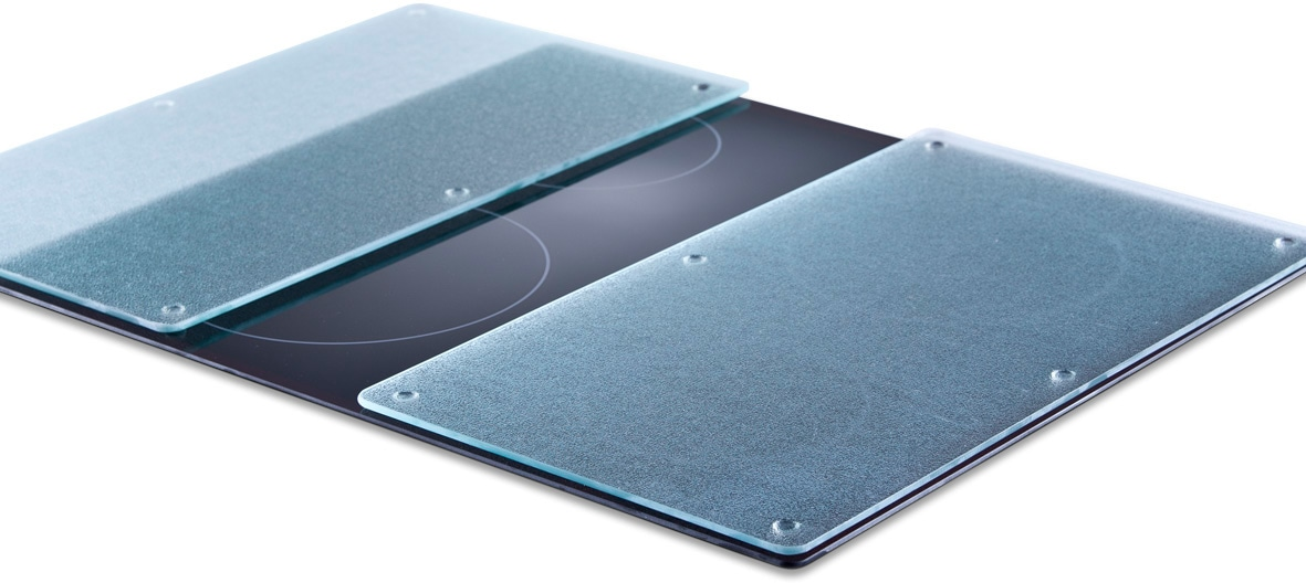 Zeller Present Schneide- und Abdeckplatte Glas ESG-Sicherheitsglas (Set 2-tlg)