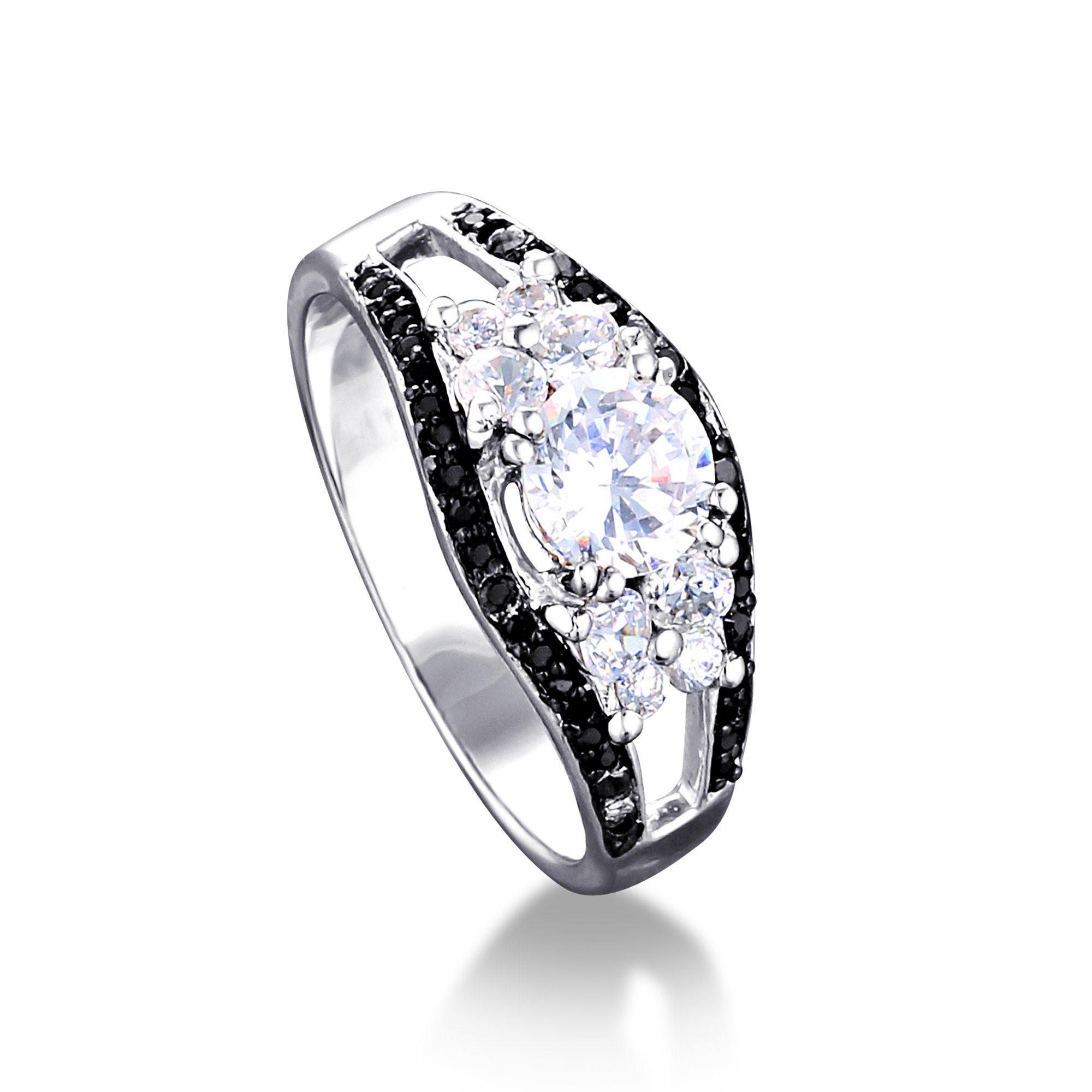 MONA MON?AMOUR Ring 925/- Sterling Silber rhodiniert Zirkonia   Schmuck > Ringe > Silberringe   Weiß   Mona Mon?Amour