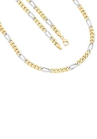 Firetti Goldkette »in Figarokettengliederung, 5,3 mm, rhodiniert, 5:1, hochglanzpoliert, halbmassiv« kaufen