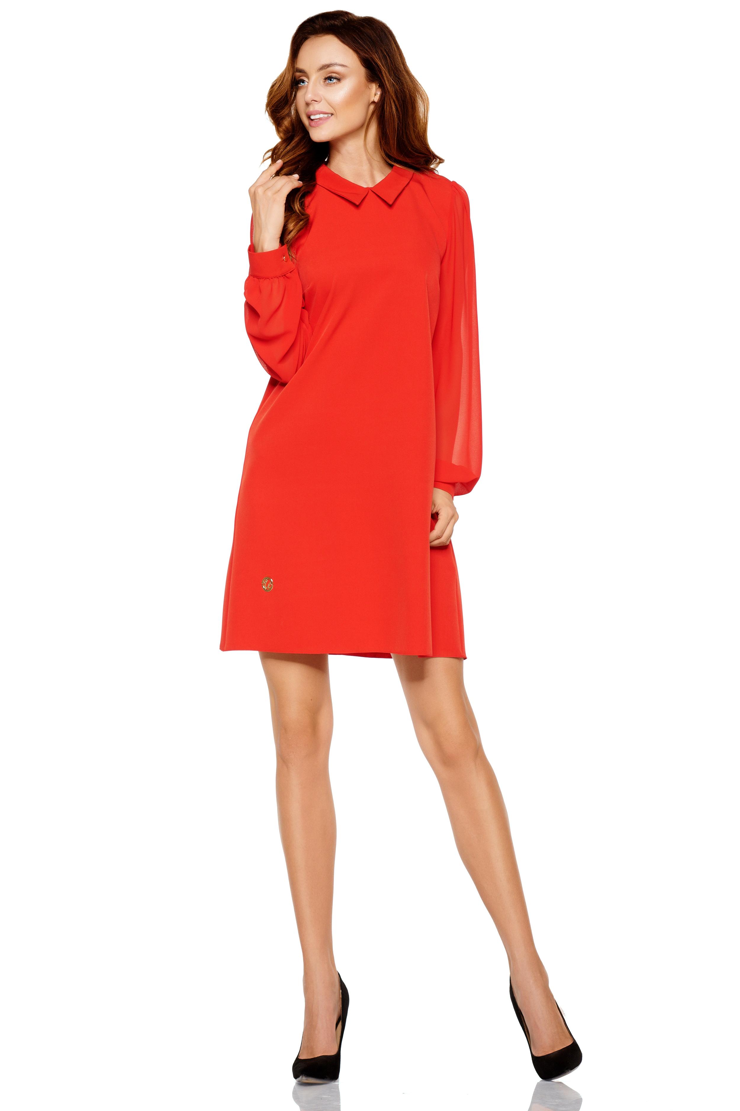 lemoniade Langarm-Kleid mit modischem Hemdkragen