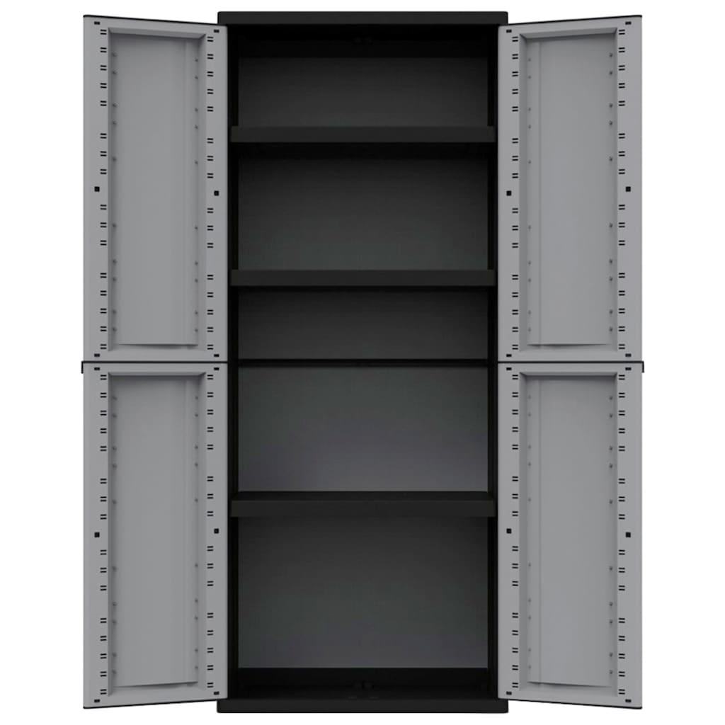 Kreher Mehrzweckschrank »J-twist«, B/T/H: 68x37,5x163,5 cm, 3 Einlegeböden, Kunststoff