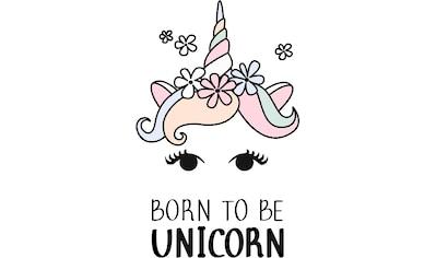 Wandtattoo »Kvilis  -  Einhornkopf Born to be Unicorn« kaufen