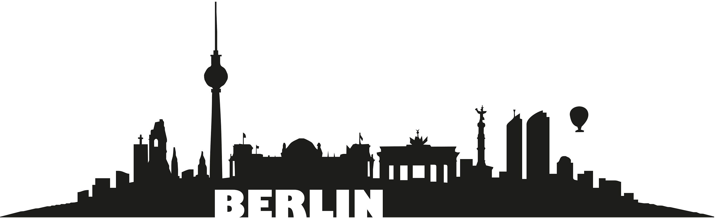 Home affaire Wandtattoo »Berlin Skyline« 120/36 cm | Dekoration > Wandtattoos > Wandtattoos | Schwarz | HOME AFFAIRE
