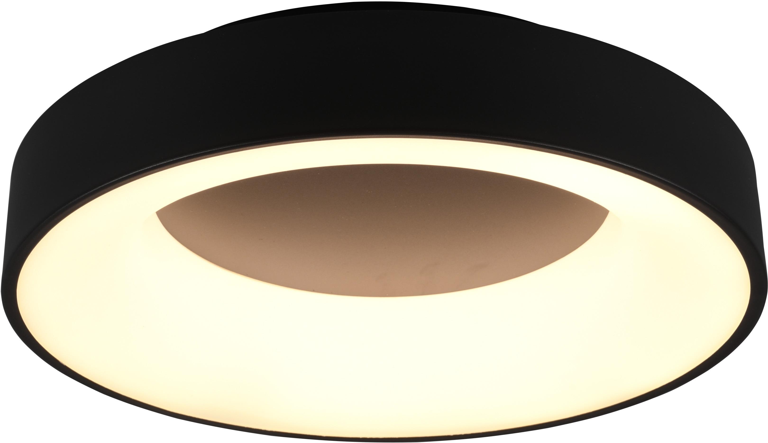 TRIO Leuchten LED Deckenleuchte GIRONA, Deckenlampe, Deckenleuchte, LED-Modul, 1 St., Warmweiß, mit Switch Dimmer dimmbar über Wandschalter, 3000K, 3100 Lm