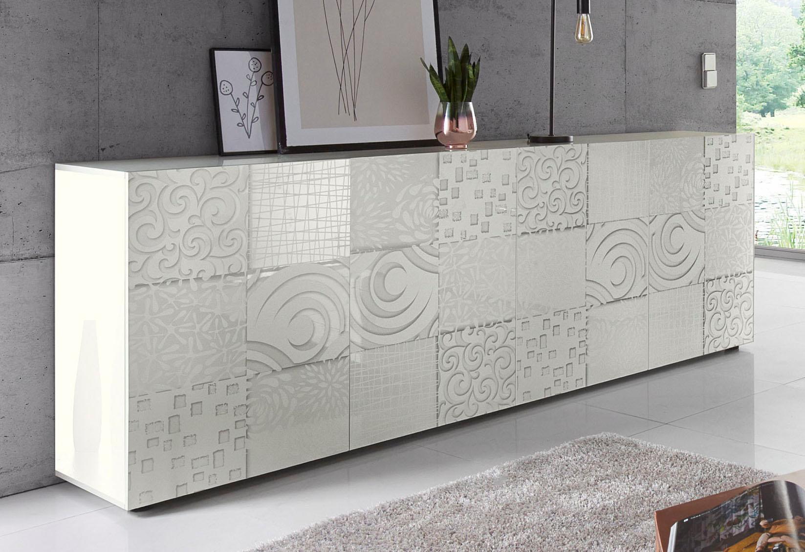 LC Miro Sideboard Breite 241 cm mit dekorativem Siebdruck